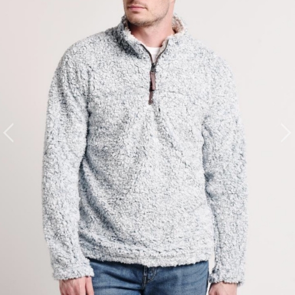 True Grit Frosty Tipped Pile Pullover 1/4 Pullover